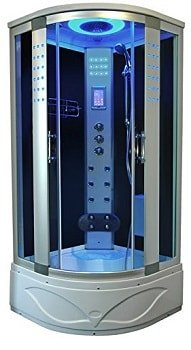 """Modern Corner Steam Shower 36"""" x 36"""" with foot massager hand shower and so on"""
