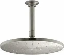 KOHLER K-13689-BN 10-Inch Contemporary Round Rain Showerhead