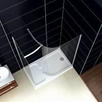 Walk In Shower Enclosure Cubicle Bathroom Curved Door ...