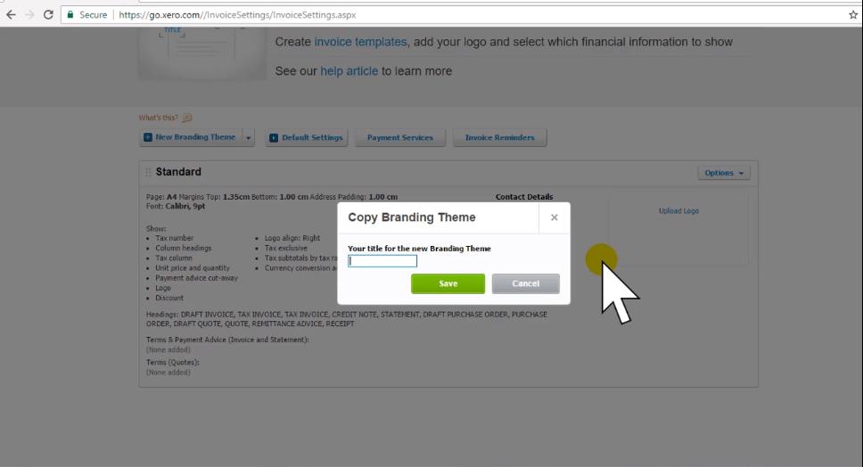 Xero Training - Create a Branding Theme - Thumbnail