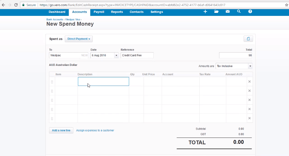 ACCTXER5120503 Xero Training - Learn to Record a Spend Money transaction
