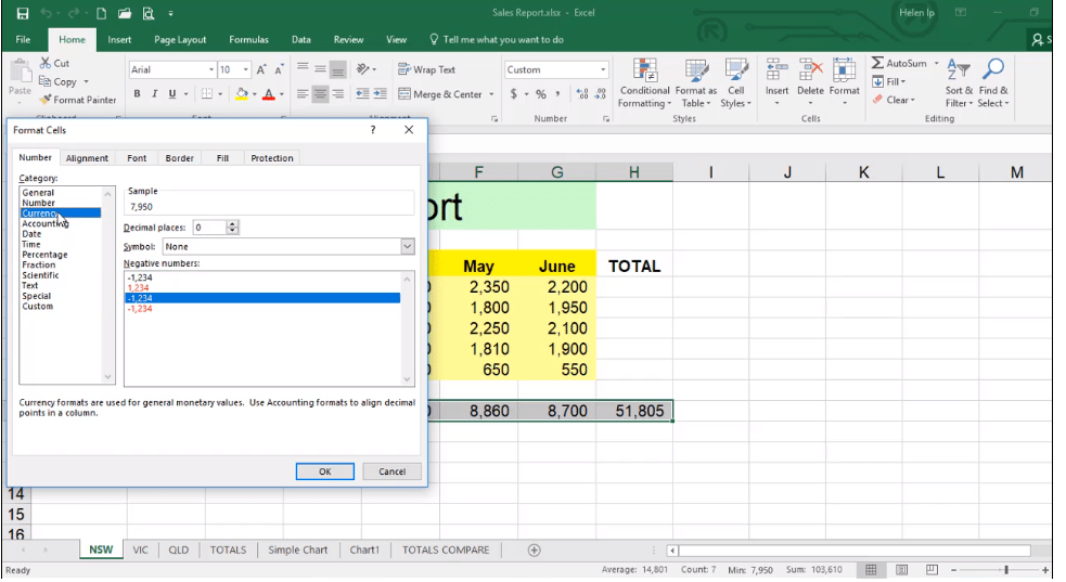 ADMNEXC303105 Excel Training - Learn how to Format Numbers