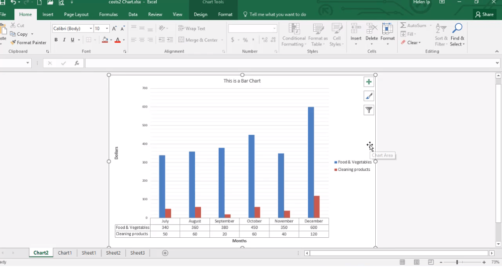 ADMNEXC305301 Excel Training - Identify elements of a chart