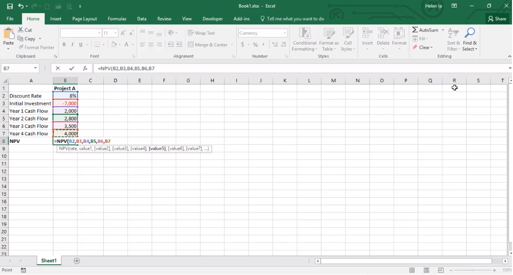 ADMNEXC309108 Excel Training - How to Calculate NPV of an investment
