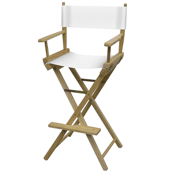 directors chair white with lumbar support for office bar height