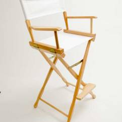 Directors Chair White Dining Table And 6 Chairs Argos Gold Medal Classic Natural 30 Canvas Inch Wood