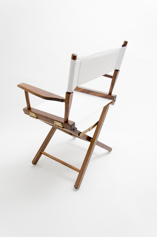 directors chair white table and rental prices gold medal commercial walnut 18 canvas wood back