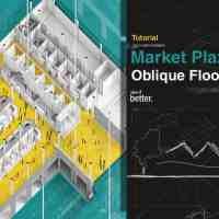 Market Place Oblique Plan Illustration
