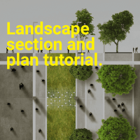 Landscape Architecture Section and Plan tutorial