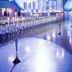 alquiler candelabros de plata para cena de gala
