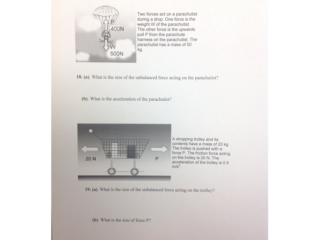Newtons 2nd Law Worksheet 2