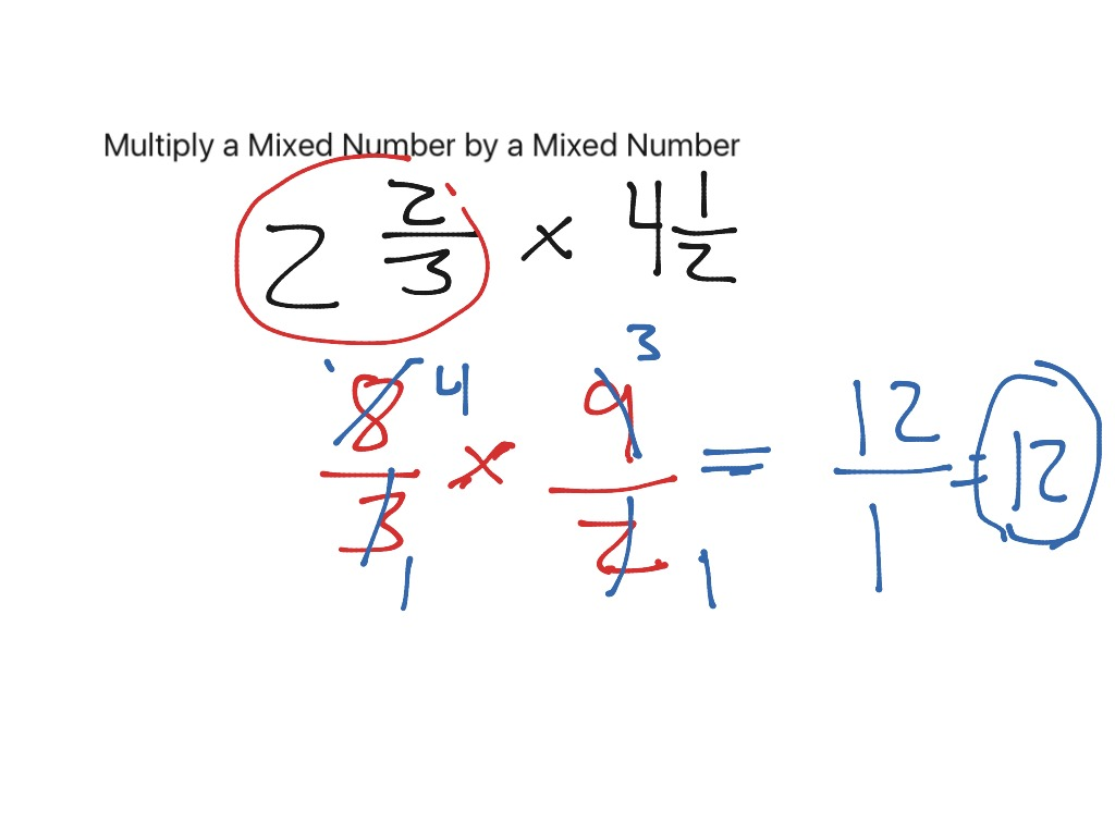 Multiply Mixed Numbers Amp Fractions