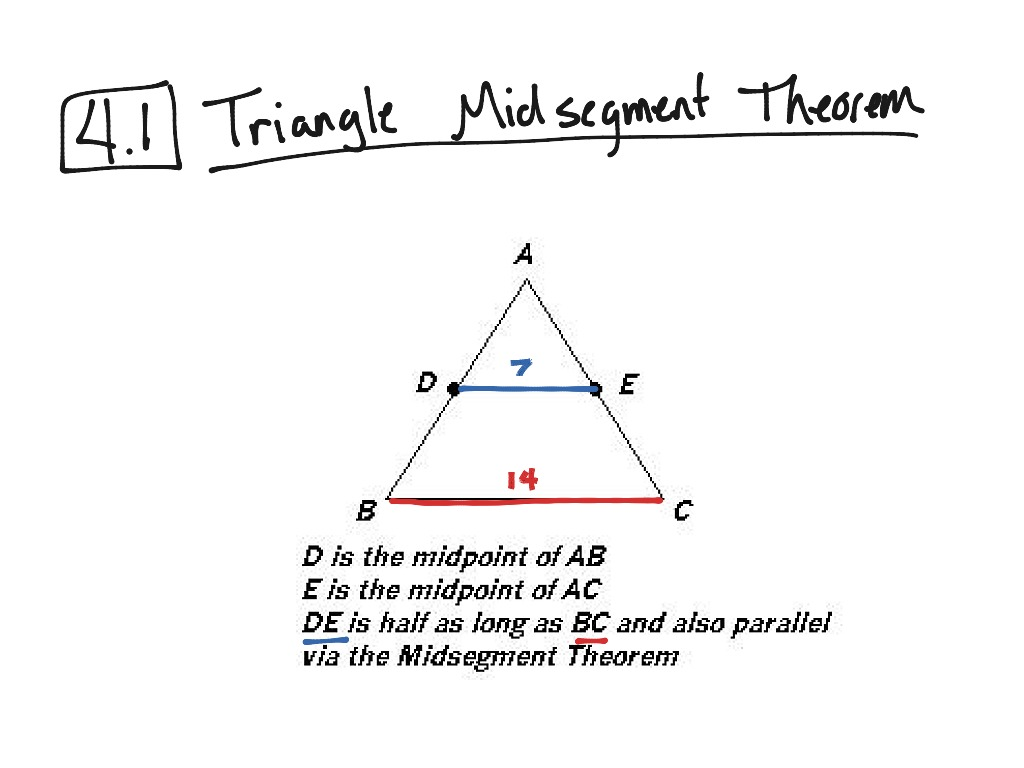 28 Midsegment Of A Triangle Worksheet