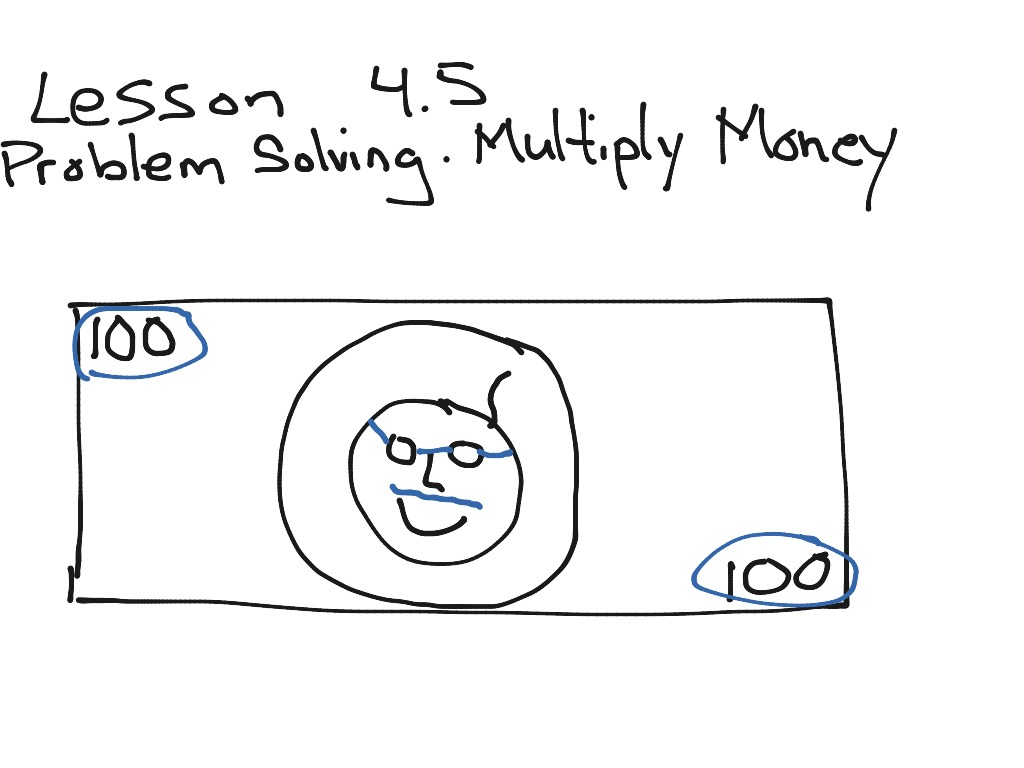 Gomath Grade 5 4 5 Problem Solving Multiply Money