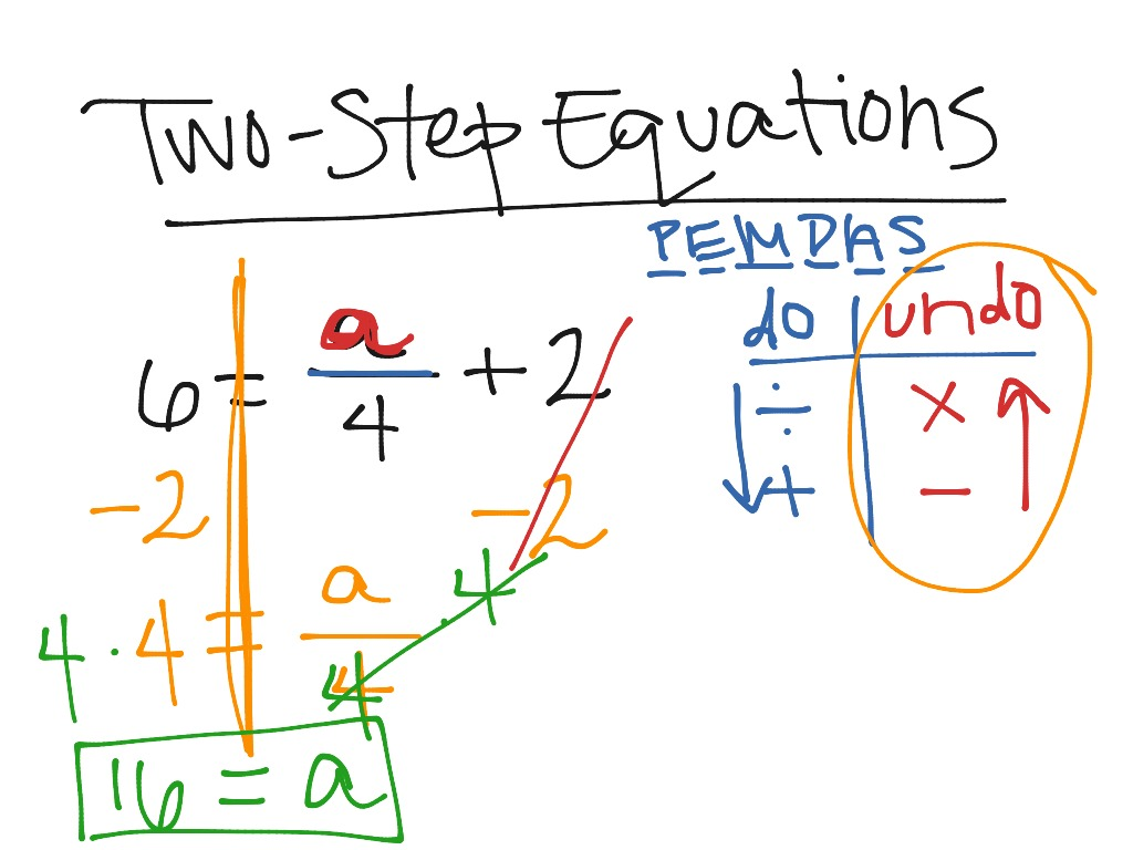 Two Step Equations Ex1