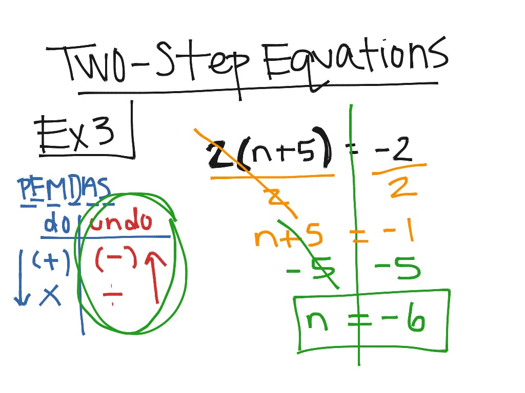Two Step Equations Ex3