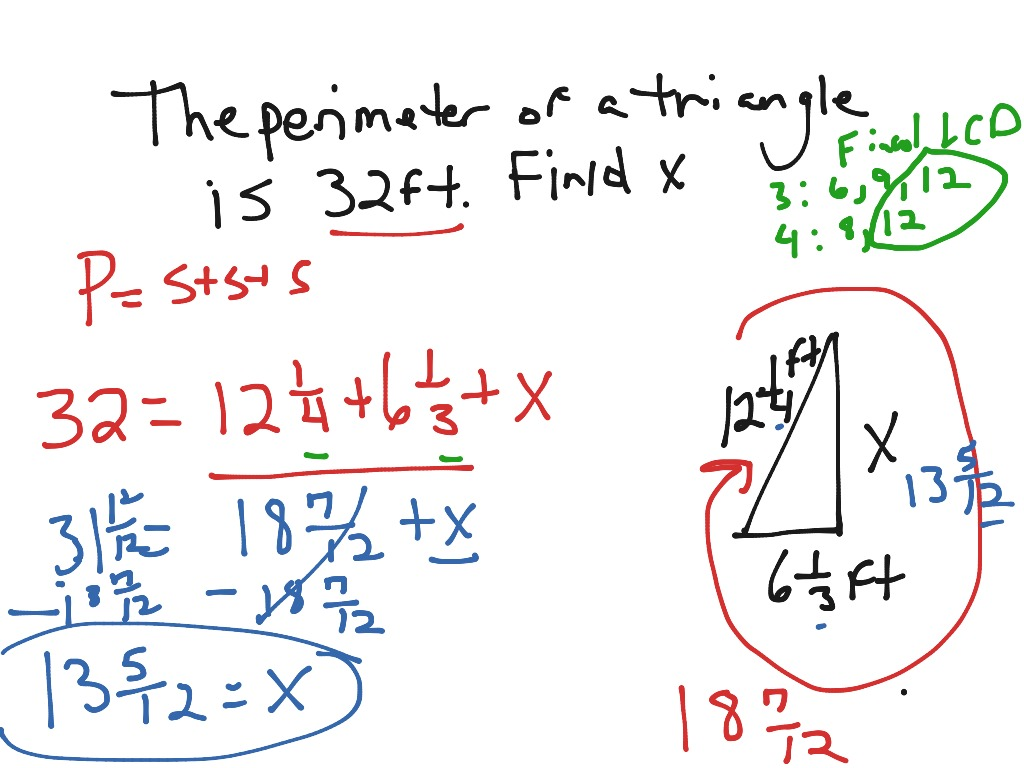 Finding Perimeter With Fractions