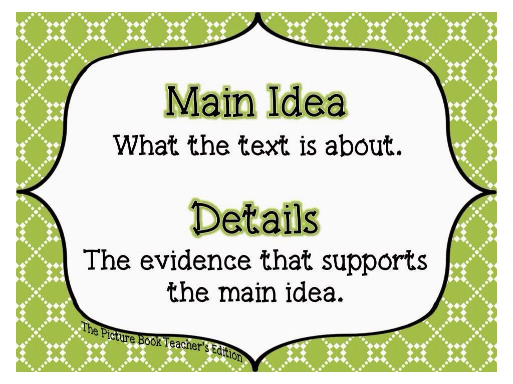 Identifying The Main Idea Exam Revision