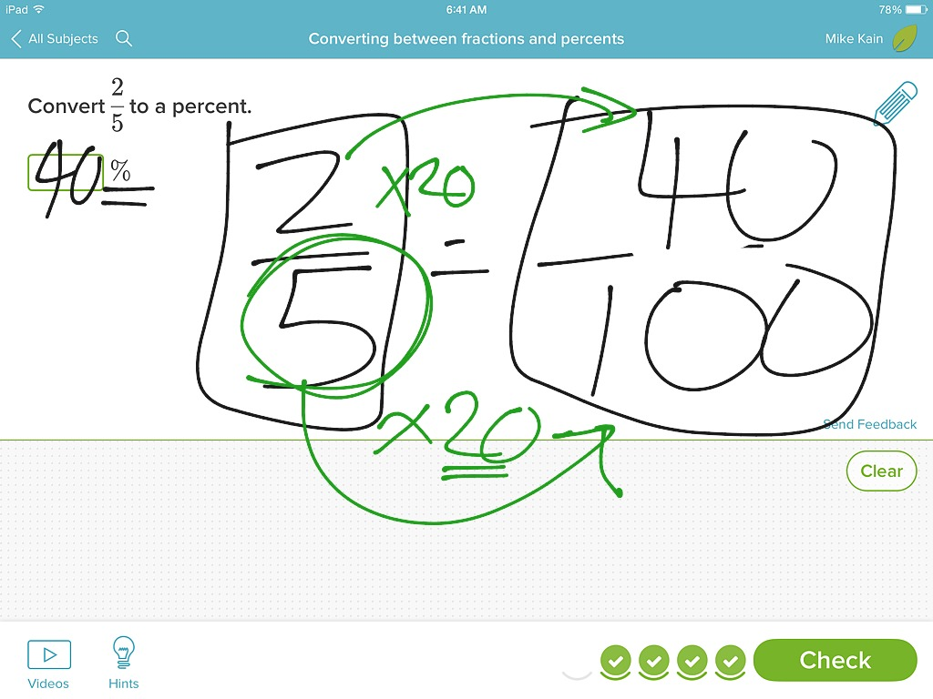 Converting Between Fractions And Percents