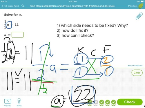 small resolution of One step equations with multiplication and division including fractions and  decimals   Math