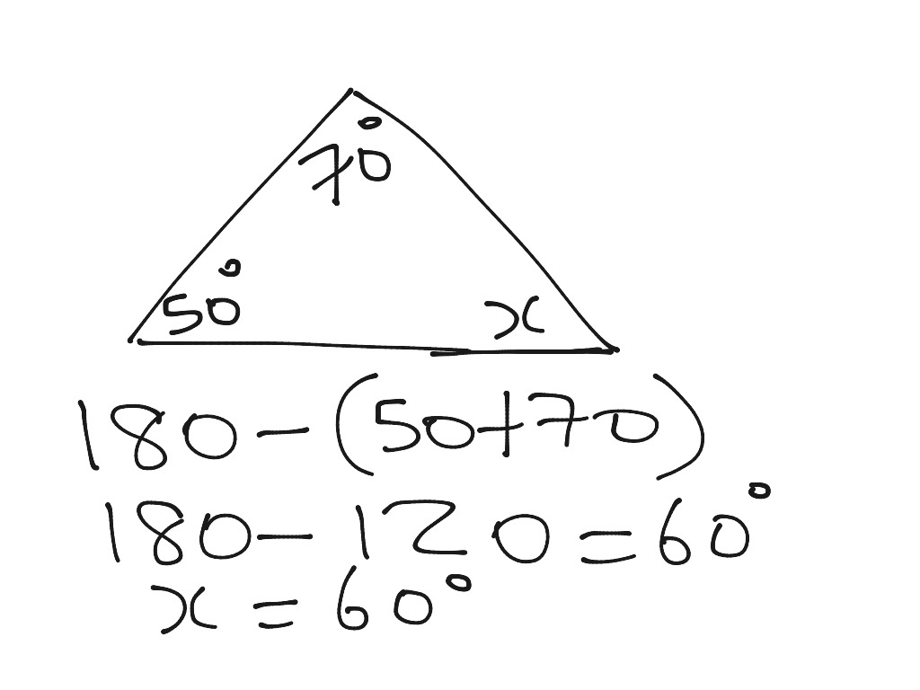Finding Missing Angles In A Triangle