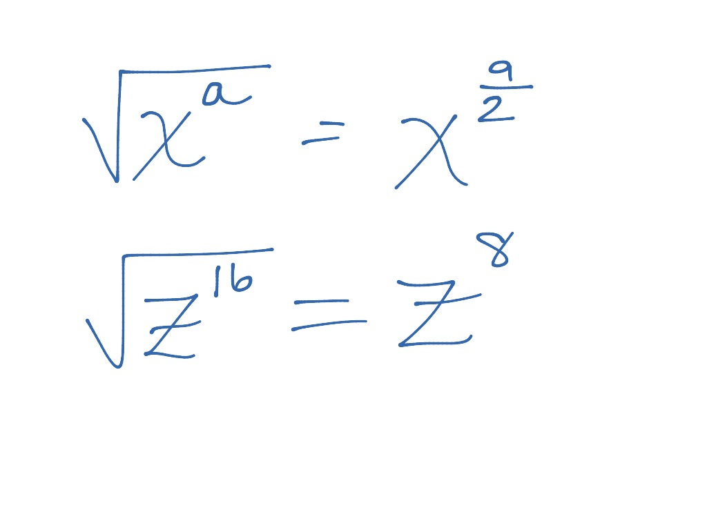 Simplifying Square Roots With Variables