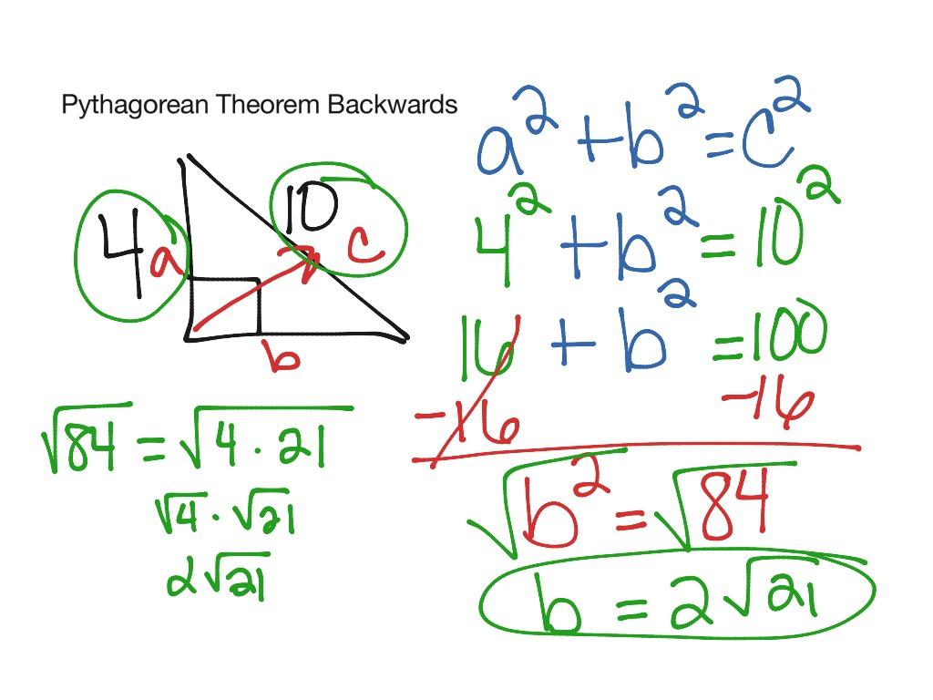 Pythagorean Theorem Backwards