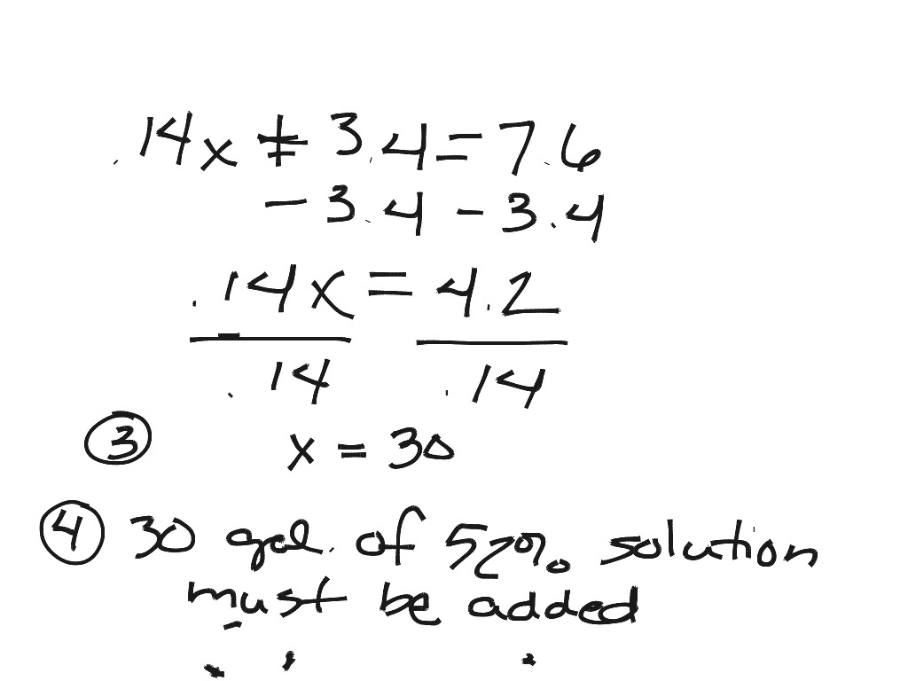 Math 091 Word Problems for Final Review: Problems 4