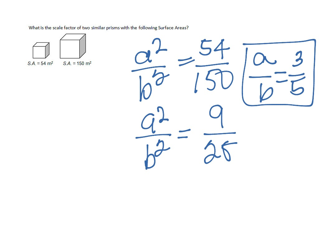 Finding Scale Factor Given The Surface Areas