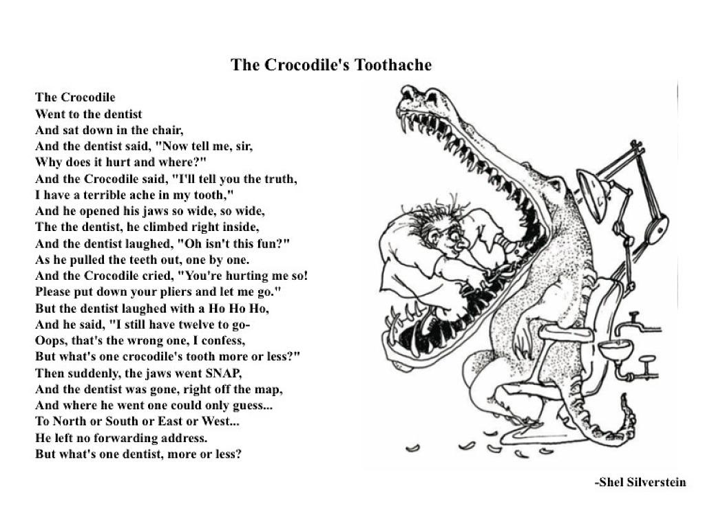 The Crocodile Toothache Shel Silverstein