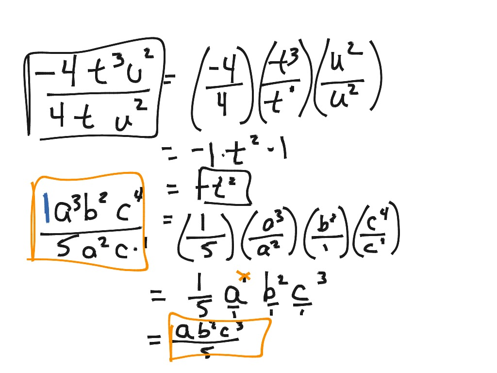 hight resolution of Laws of Exponents 4: Dividing Monomials   Math