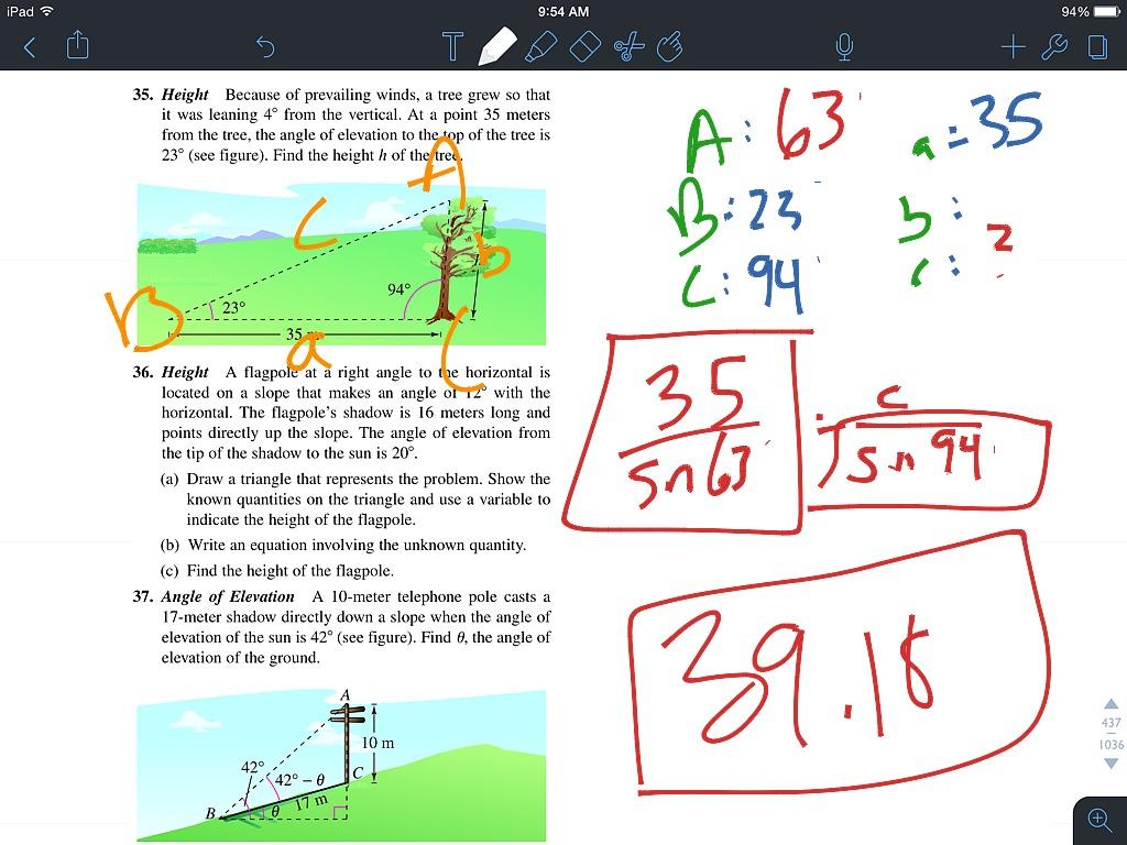 6 1 Law Of Sines Homework