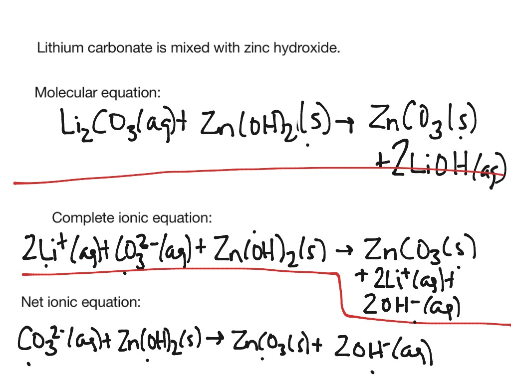 Molecular Complete Ionic And Net Ionic Equations