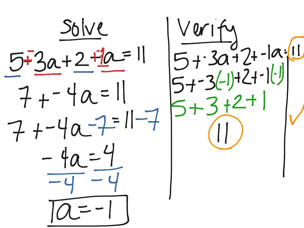 Solving Type 3 Equations Combining Like Terms