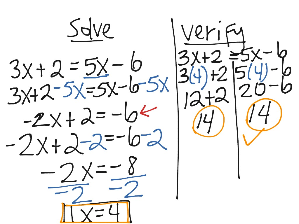 Solving Type 3 Equations Variable On Both Sides