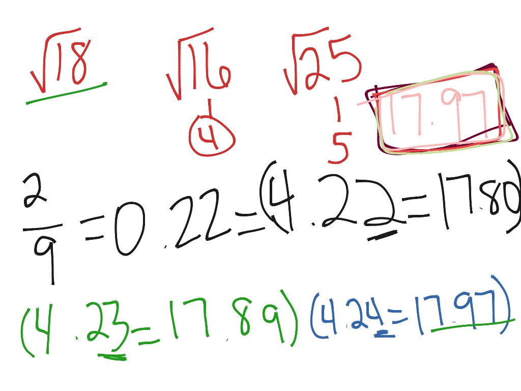 How To Make A Square Root Fraction Into A Decimal