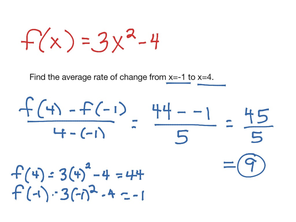 Rate Of Change Equation