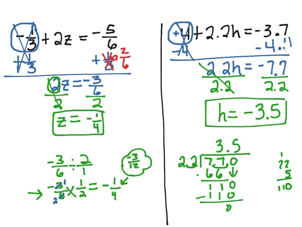 medium resolution of Solving Two Step Equations   Math