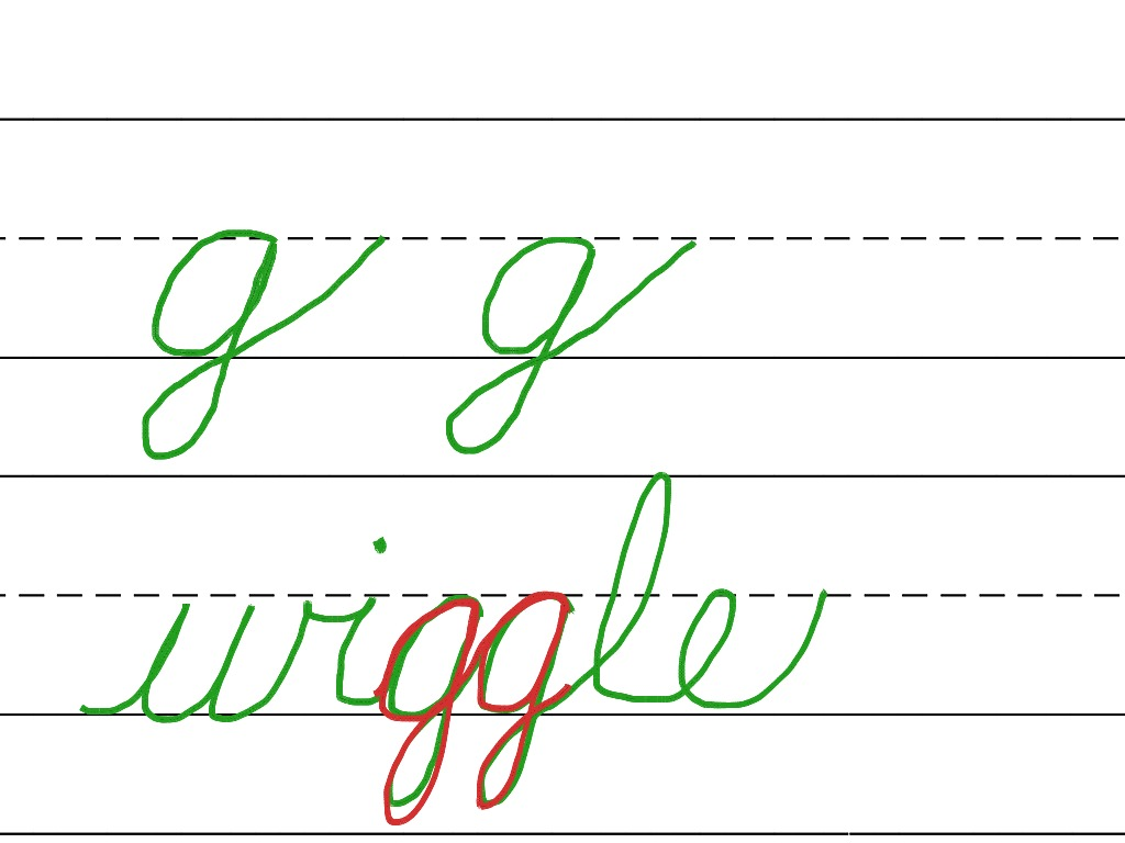 Cursive Lowercase G