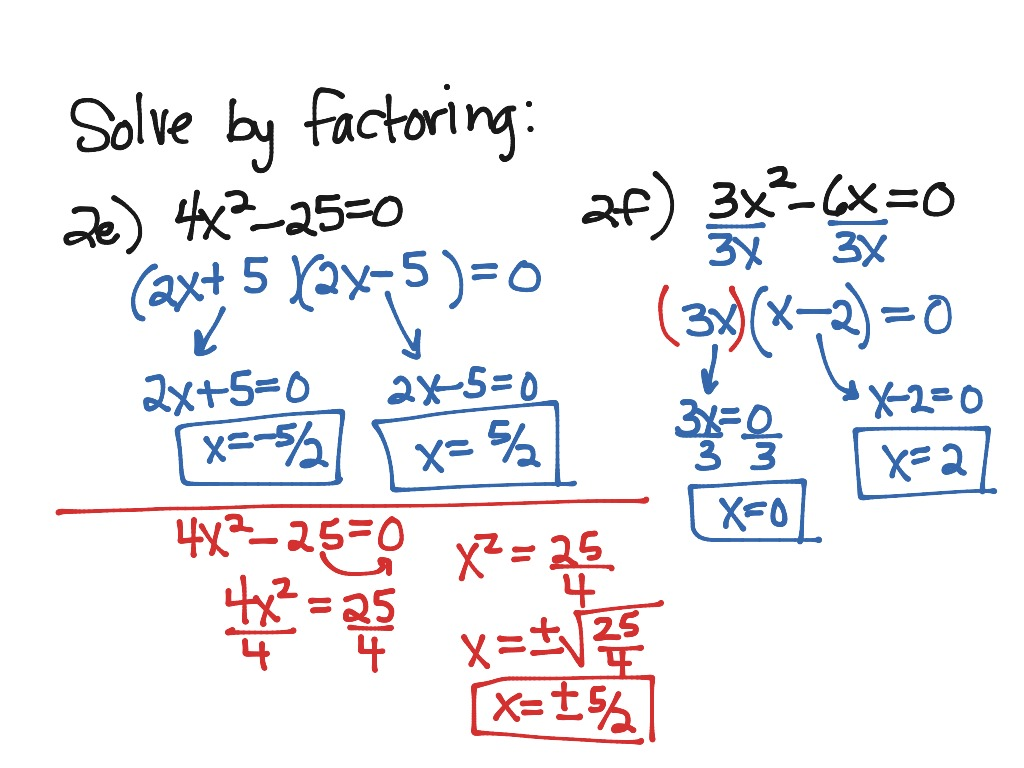 Solve This Quadratic Equation By Factoring