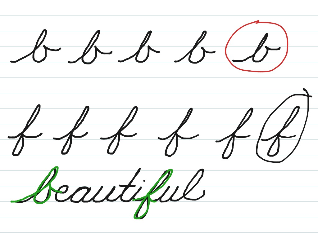 Cursive B And F