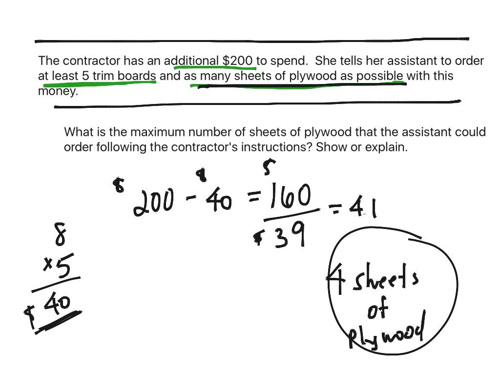 What Did The Math Teacher Say Worksheet