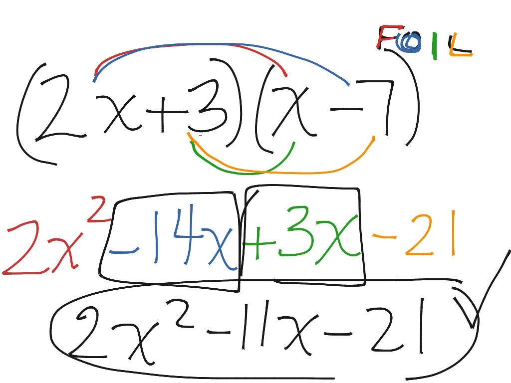 8 3 Multiplying Two Binomials Foil Method
