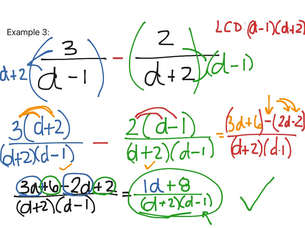 11 4 Adding And Subtracting Rational Expressions With