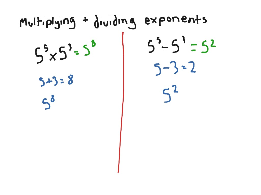 Multiplying And Dividing Exponents