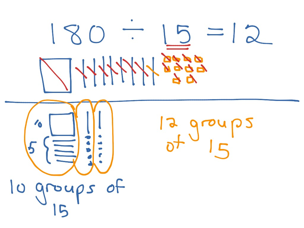 Dividing By A Two Digit Divisor Using Base 10 Blocks