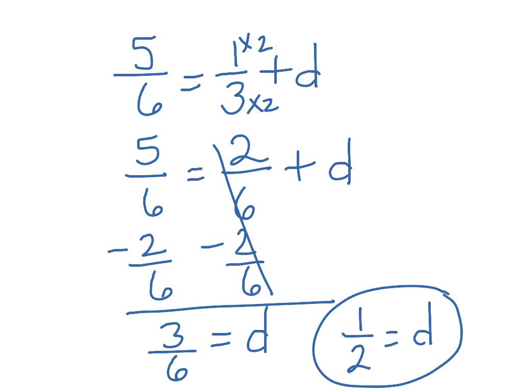 One Step Equation With Fractions