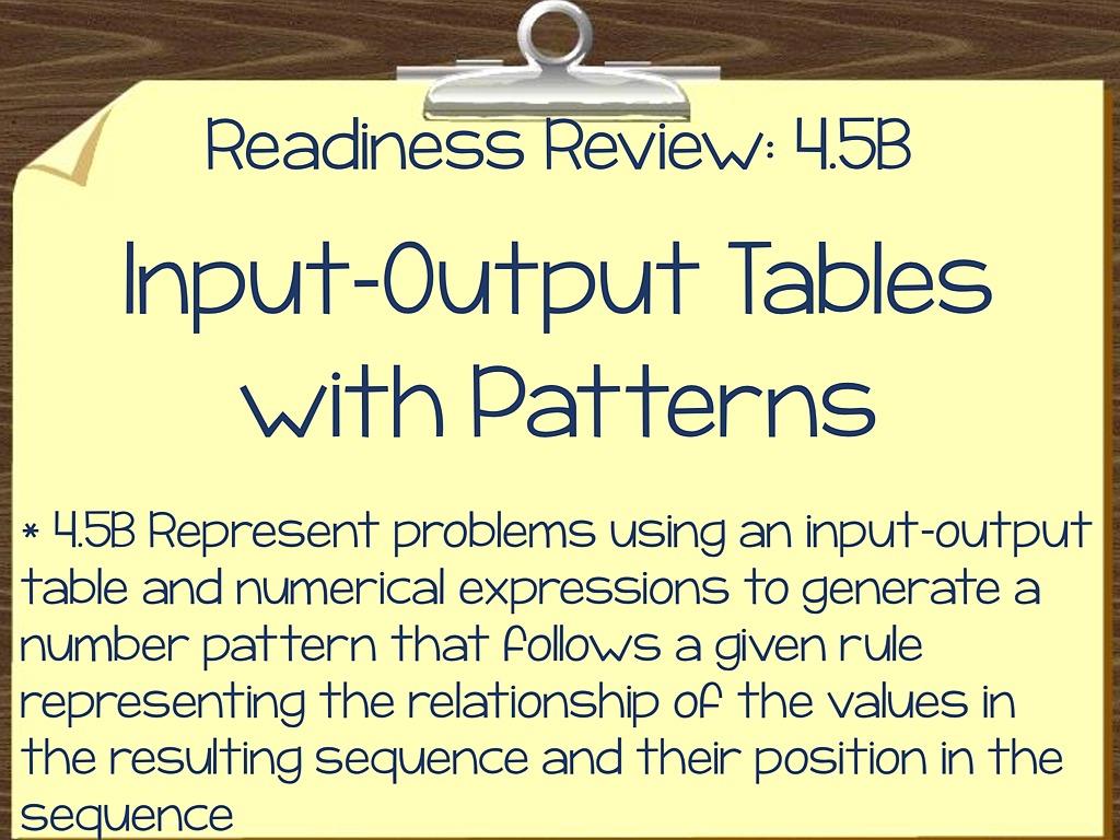 4 5b Input Output Tables