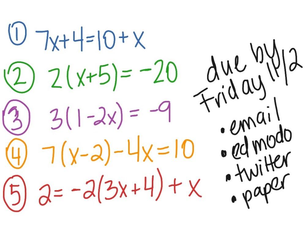 medium resolution of Multi Step Equations Worksheet 8th Grade - Worksheet List