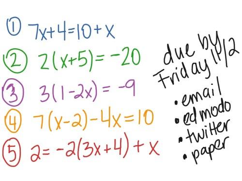 small resolution of Multi Step Equations Worksheet 8th Grade - Worksheet List